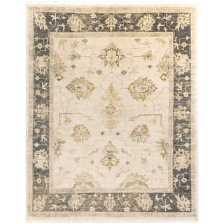 Hand-Knotted Chirstie Floral New Zealand Wool Area Rug - 8' x 10'