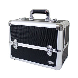Jacki Design Black Aluminum 10-inch Rolling Carry-on Makeup Case