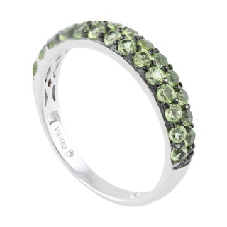 Sterling Silver Gemstone Stack Band Ring (More options available)