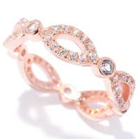Sterling Silver White Zircon Infinity Ring