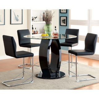 Furniture of America Olgette Contemporary High Gloss Round Dining Table (2 options available)