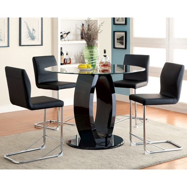 Furniture of America Raji 48-inch High Gloss Round Counter Table. Opens flyout.