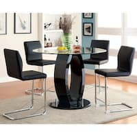 Furniture of America Olgette Contemporary High Gloss Round Dining Table