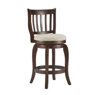 TRIBECCA HOME Ali Modern Linen 24-inch Counter Height Swivel Stool