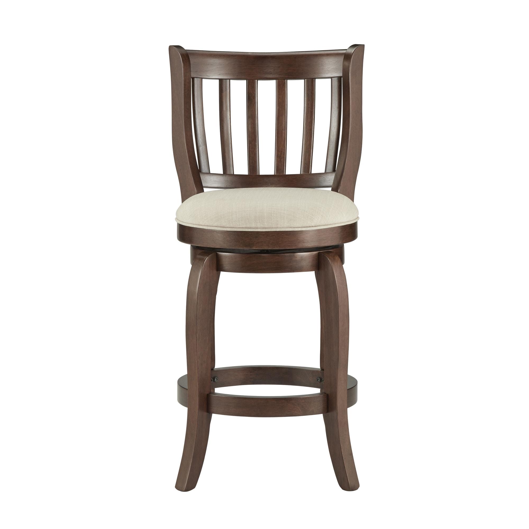 ali modern linen 24 inch high back counter height swivel stool by inspire q ebay. Black Bedroom Furniture Sets. Home Design Ideas