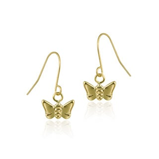 Mondevio 10k Yellow Gold Butterfly Earrings