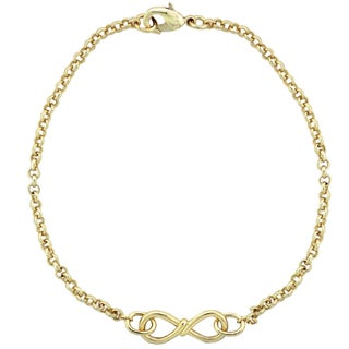 Mondevio Infinity Twist Rolo Bracelet (3 options available)
