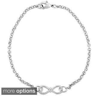 Mondevio Infinity Twist Rolo Bracelet|https://ak1.ostkcdn.com/images/products/9965190/P17117385.jpg?impolicy=medium