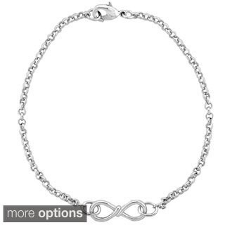 Mondevio Infinity Twist Rolo Bracelet