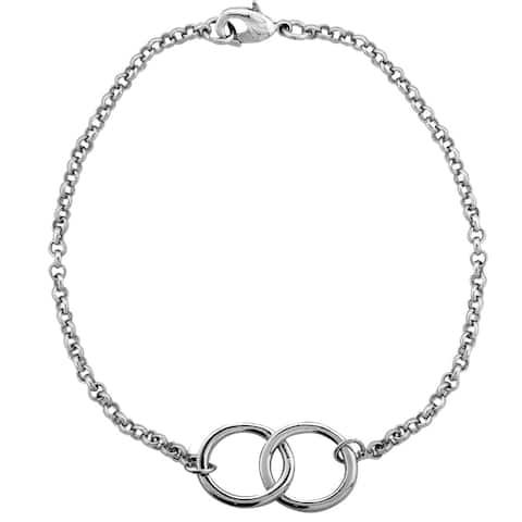 Mondevio Interlocking Circles Rolo Bracelet