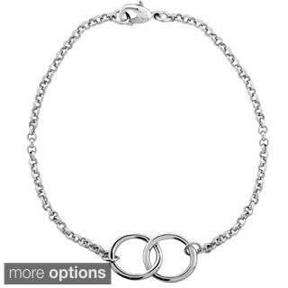 Mondevio Interlocking Circles Rolo Bracelet|https://ak1.ostkcdn.com/images/products/9965191/P17117386.jpg?impolicy=medium