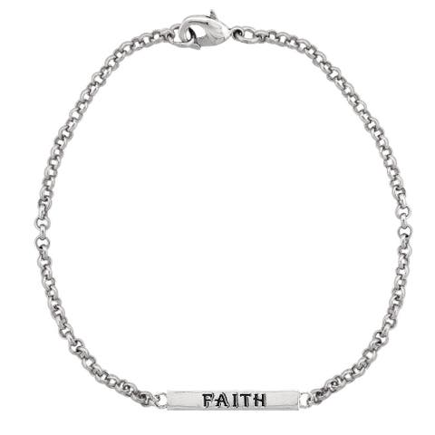 Mondevio 'Faith' Bar Rolo Bracelet