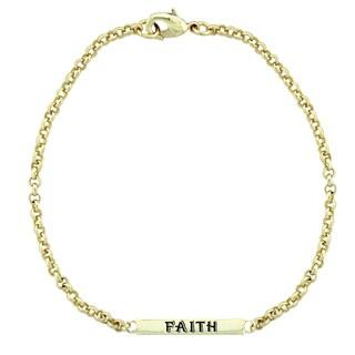 Mondevio 'Faith' Bar Rolo Bracelet (3 options available)