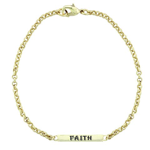 Mondevio 'Faith' Bar Rolo Bracelet