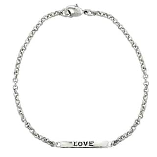 Mondevio 'Love' Bar Rolo Bracelet|https://ak1.ostkcdn.com/images/products/9965196/P17117390.jpg?impolicy=medium