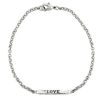 Mondevio 'Love' Bar Rolo Bracelet (Option: Yellow)