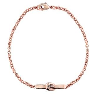 ICZ Stonez Buckle Bar Chain Bracelet (Option: Rosetone)