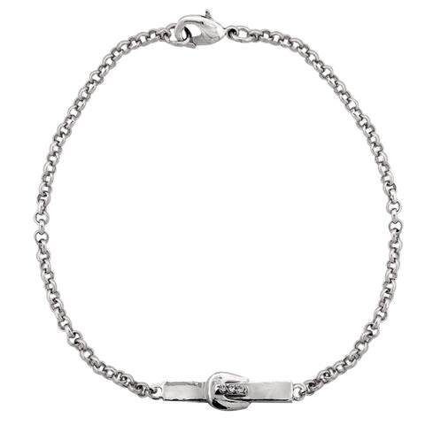 ICZ Stonez Buckle Bar Chain Bracelet