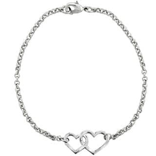 Mondevio Interlocking Heart Rolo Bracelet|https://ak1.ostkcdn.com/images/products/9965198/P17117392.jpg?impolicy=medium