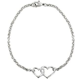 Mondevio Interlocking Heart Rolo Bracelet