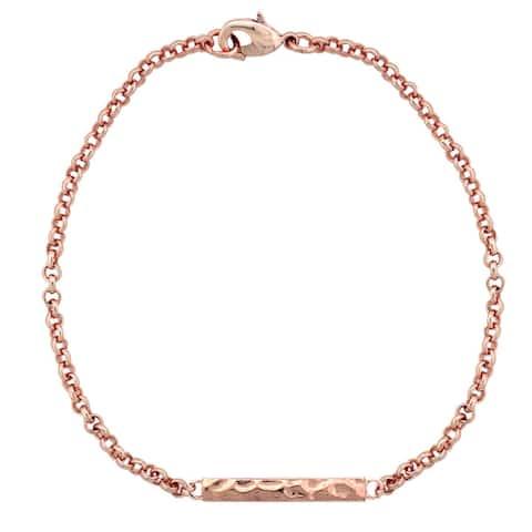 Mondevio Hammered Bar Rolo Bracelet