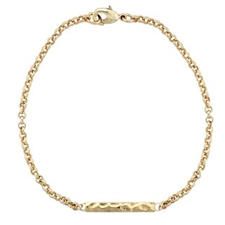 Mondevio Hammered Bar Rolo Bracelet (3 options available)
