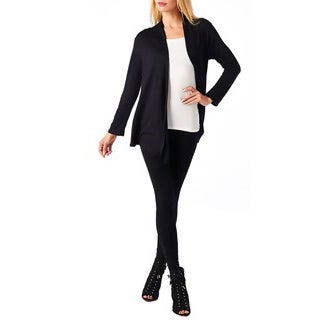 Golden Black Fashion Women's Fly Away Front Basic Cardigan
