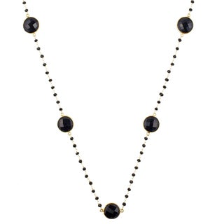 Alchemy Jewelry 22k Goldplated Black Onyx Necklace