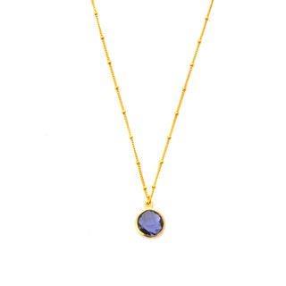 Alchemy Jewelry 18k Gold Overlay Iolite Necklace