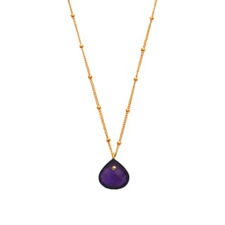 Alchemy Jewelry 18k Gold Overlay Amethyst Necklace