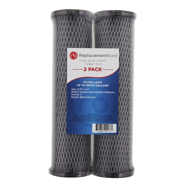 ge fxwtc culligan d 10 10 micron 10x2 5 carbon wrap filter free shipping on orders over 45. Black Bedroom Furniture Sets. Home Design Ideas