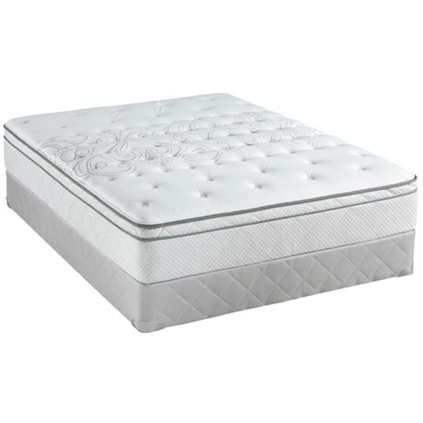 Sealy Posturepedic Classic Crystal City 11 5 Inch Queen Size Plush Pillow Top Mattress Set