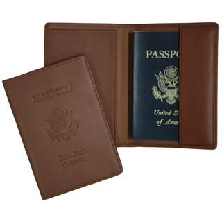 Royce Leather Debossed Full Grain Passport Jacket