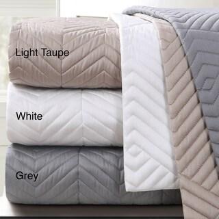 Echelon Home Monterey Quilted Cotton Euro Sham (Set of 2)