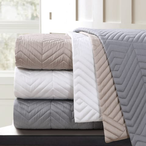 Echelon Home Monterey Quilted Cotton Euro Sham (Set of 2)