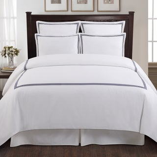 Echelon Home Three Line Hotel Collection Cotton Sateen 3-piece Duvet Cover Set (4 options available)