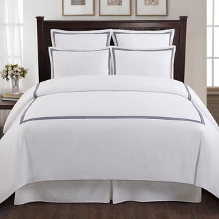 Echelon Home Three Line Hotel Collection Cotton Sateen 3-piece Duvet Cover Set