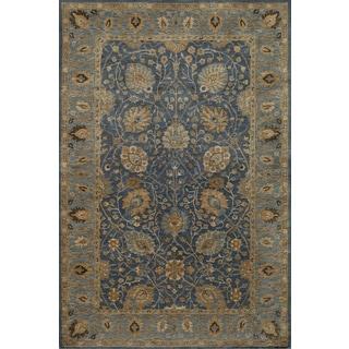 Momeni Zarin Blue Hand-Tufted Wool Rug (9'6 X 13'6)