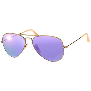 Ray-Ban Aviator RB3025 Unisex Bronze/Copper Frame Violet Mirror Lens Sunglasses