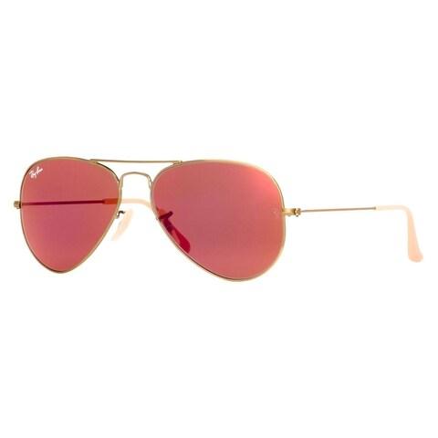 Ray-Ban Aviator RB3025 Unisex Bronze/Copper Frame Red Mirror Flash Lens Sunglasses