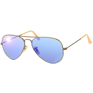 Ray-Ban RB3025 Aviator Unisex Demi-gloss Blue Mirror Lens Sunglasses