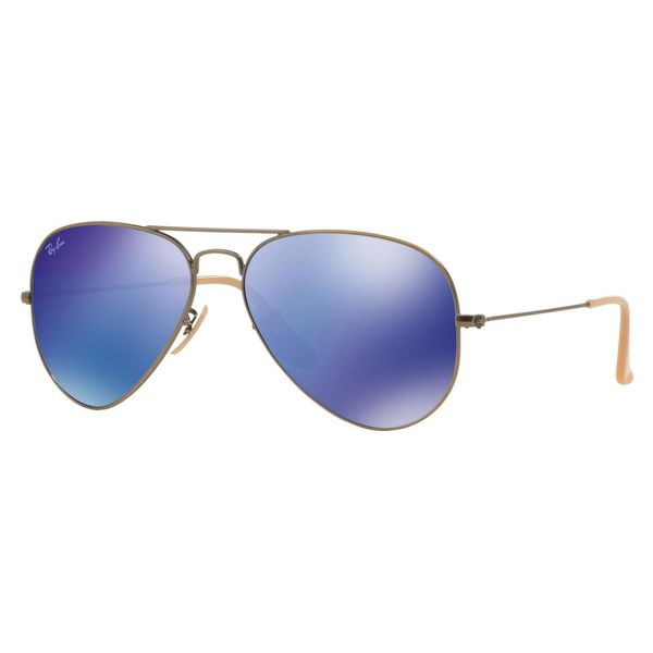 Rayban Sunglasses Blue  ray ban aviator rb3025 uni bronze copper frame blue mirror lens