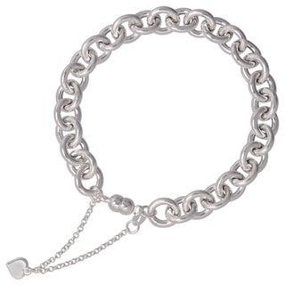 Karizia Italian Sterling Silver Rolo Chain Bracelet