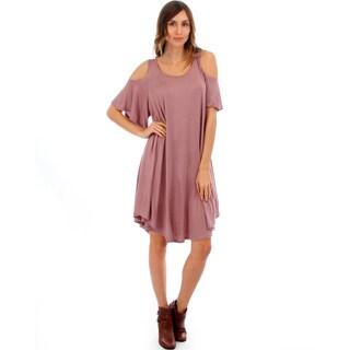 Lyss Loo Draped Open Shoulder Dress