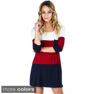 Lyss Loo Women's Over-Sized Color Block Tunic Dress