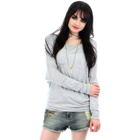 Lyss Loo Dolman Sleeve Top With Side Ruching