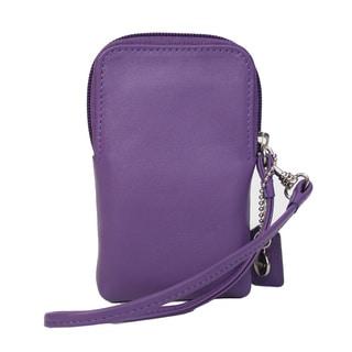 Royce Leather Camera or Smart Phone Wristlet Wallet