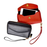 Royce Saffiano Leather Slim Cell Phone Wallet