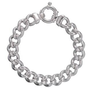 Karizia Italian Sterling Silver Curb Chain Bracelet