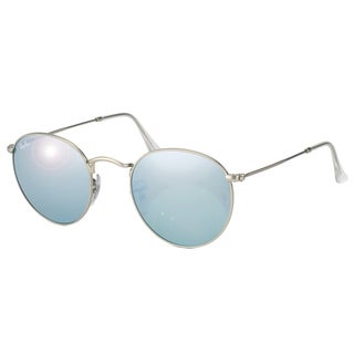 Ray-Ban Round Flash Lenses Sunglasses Silver/ Silver Flash 50mm